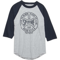 Spitfire Fastball Raglan T-Shirt - Long-Sleeve - Men's Athletic Heather/Navy,