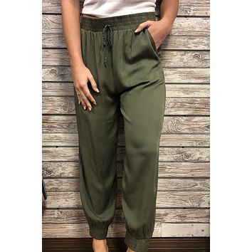 Night Out Pants- Olive