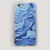 Blue Marble iPhone 6 Plus Case, iPhone 6 Case, Stone Texture Phone Case, iPhone 5s Case, iPhone 5c Case, iPhone 4 Case