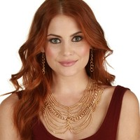 Sale-gold Chain Reaction Necklace Set
