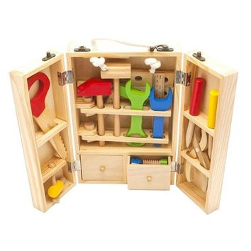 ICIK272 Baby Toys Kids Wooden Multifunctional Tool Set Maintenance Box Wooden Toy Baby Nut Combination Chirstmas/Birthday Gift