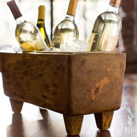 BLONDE WOOD WINE TROUGH