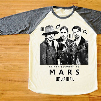 30 Seconds to Mars T-Shirt Jared Leto Shirt Rock T-Shirt Long Sleeve Tee Shirt Women T-Shirt Men T-Shirt Unisex T-Shirt Baseball Shirt S,M,L