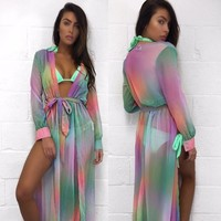 Multi-Color Light-Weight Long Swimsuit Cover Up