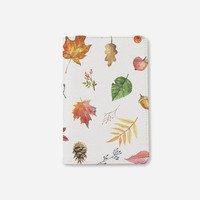 Fall collection Autum leaves passport holder leather passport cover personalized passport cover vintage passport cover by WanderlustCover