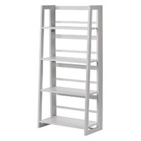 Dolce 4 Shelf Folding Bookcase - White