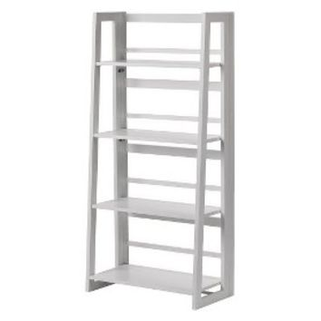 Linon Dolce 4 Shelf Folding Bookcase - White