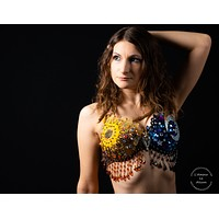 Sun and Moon Rave Bra Dance Costume Halloween Costume