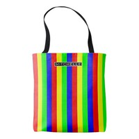 Personalized Retro Rainbow Stripes Tote Bag