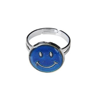 Adjustable Smiley Face Color Change Emotion Feeling Mood Ring Finger Ring