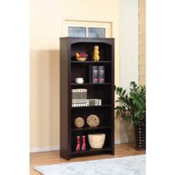Contemporary style 5-Tier Bookcase With 5 Open Shelves.