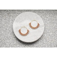 Wool & Moon - Caramel Creole Earrings