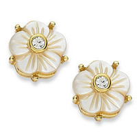 kate spade new york Earrings, 12k Gold-Plated Crystal Corsage Stud Earrings - - Macy's