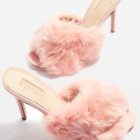 ROA Fur Mule Sandals - New In Fashion - New In