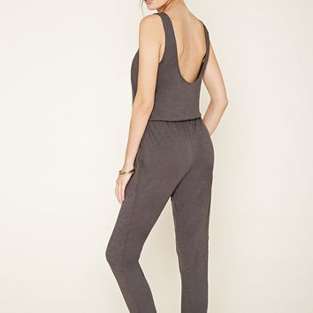 Cotton Drawstring Jumpsuit | Forever 21 - 2000137979