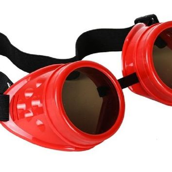 Plain Red Goggles DIY Cosplay Cyber Goth Glasses
