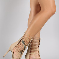 Speed Limit 98 Elasticized Straps Open Toe Heel
