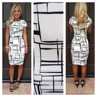 Printed All The Right Angles Dress