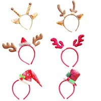 Christmas Headband Santa Xmas Party Decor Double Hair Band Clasp Head Hoop Natal Decor