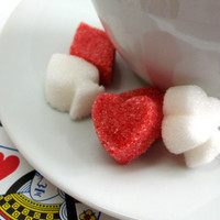 Card Party Diamond Heart Club and Spade Shaped Sugar Cubes 6 Dozen