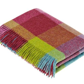 Rome - Pure New Wool Throw - Thistle