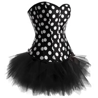 Polka Dot Corset with Tutu