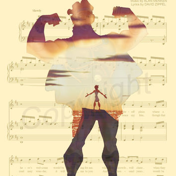 Hercules Music Sheet Art Print