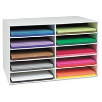 Pacon Classroom Keepers Construction Paper Storage for 12-inch by 18-inch Paper, 10 Slots (001316)