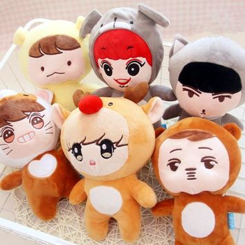 New Kpop EXO Fans club Q style Dolls Plush Doll Toy
