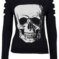 "Women's ""Big Skull"" Sweater by Jawbreaker (Black)"