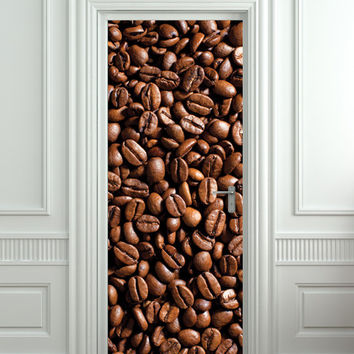 "Door STICKER coffee, cafe, turk mural decole film self-adhesive poster 30x79""(77x200 cm) /"