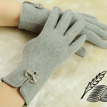 Free shipping! Hot selling New 2013 Woman Winter Cotton Gloves Warm Miittens Fashion  Bowknot Lace Thermal Velvet lining G201