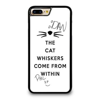 THE WHISKERS DAN AND PHIL iPhone 4/4S 5/5S/SE 5C 6/6S 7 8 Plus X Case