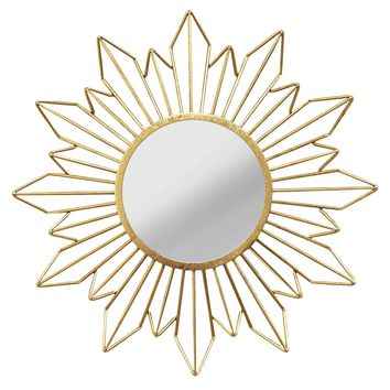 Nalani Gold Floral Metal Wall Mirror