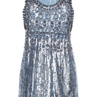 Embellished Sequin Mini Dress | Moda Operandi