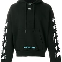 "Black ""Temperature"" Hoodie by OFF-White"