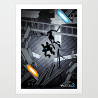 Science Rhymes with Compliance // Portal 2 Art Print by Ben Huber