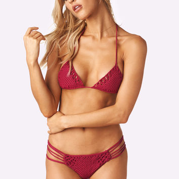 Lola Top x Iman Bottom Bikini Separates (Wine)