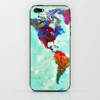 Abstract World Map iPhone & iPod Skin by Gary Grayson