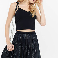 Strappy Back Crop Cami & Sequined A-line Skort from EXPRESS