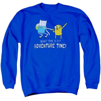 Adventure Time - Fist Bump Adult Crewneck Sweatshirt Officially Licensed Apparel