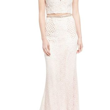 Mac Duggal 'Gladys' Embellished Lace Two-Piece Gown | Nordstrom