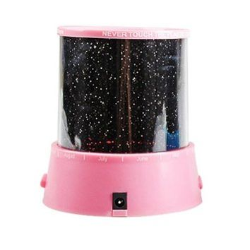 GPCT LED Night Light Stars Projector Lamp Colorful Stars Projection (Pink)