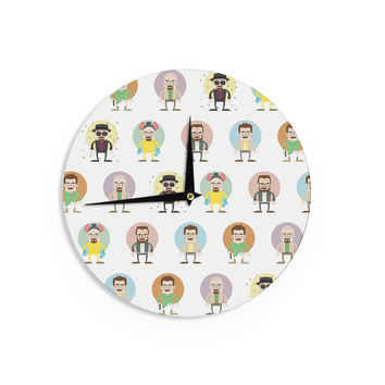 "Juan Paolo ""The Stages of Walter White"" Breaking Bad Wall Clock"