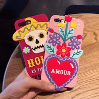 3D Soft silicone case for iPhone