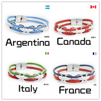 Rio 2016 Olympic National Flags Bracelet