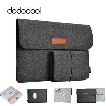 dodocool Soft Sleeve Laptop Bag Case For Apple Macbook Air Pro Retina 11 12 13 Laptop Anti-scratch Cover For Mac book 13.3 inch