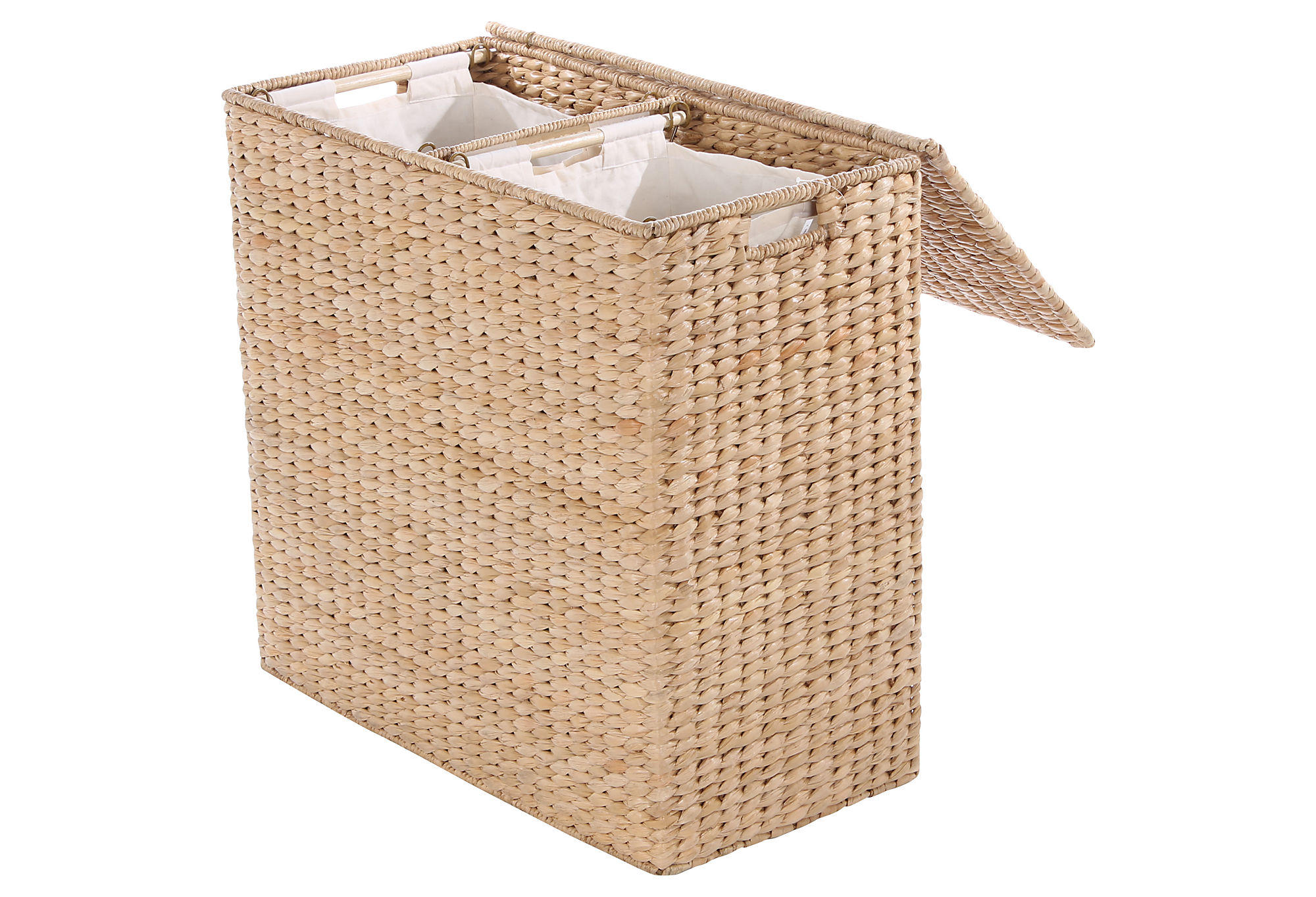 Divided Hamper W Liners Honey Laundry From One Kings Lane