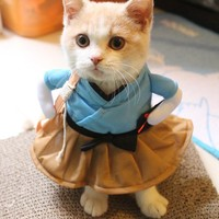 New Pet Dog Cat Costume Suit Clothes Funny Dress Up Clothing Party Interesting Transfiguration Pet Cat Dog Funny Cosplay Clothes