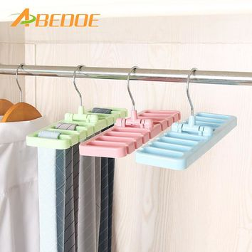 ABEDOE Storage Rack Tie Belt Organizer Rotating Ties Hanger Holder Closet Organization Wardrobe Finishing Rack Bra Belts Bag